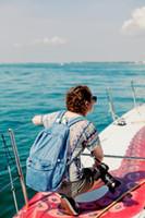 Wholesale Denim School Bag - Wholesale-Unisex Vintage Washed Denim denim backpack american apparel double-shoulder denim backpack aa denim school bag for man and women
