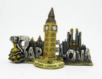imanes de nevera grande al por mayor-London Big Ben 3D Resina realista Refrigeradores estéreo Imanes Imanes de nevera flexible lindo Juguetes de regalo Nuevo Diseñado