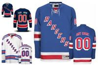 ingrosso luce del ranger-Personalizzato New York Rangers Custom Mens Womens Youth Ice Hockey maglie a buon mercato personalizzato casa blu chiaro via bianco blu navy terzo S, 4XL