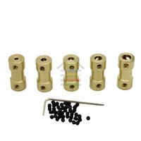 Wholesale Flexible Coupling Coupler - Free shipping 10pcs Brass Shaft Motor Flexible Coupling Coupler length 20mm Hobby Model Hand Tool 2, 3 ,3.17, 4 5, to 3.17 mm order<$18no tr