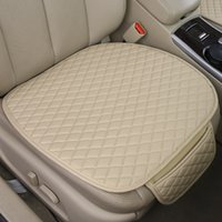 Wholesale Cover Chair Cushions - Single Piece Front Seat Flax Car Interior Front Seat Cover Home Office Chair Cushion Seatpad Pad