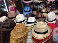 Wholesale Wholesale Womens Fedora - 200pcs lot Fashion Womens Mens Unisex Fedora Trilby Gangster Cap Summer Beach Sun Straw Panama Hat Couples Lovers Hat