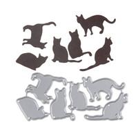 Wholesale Cat Photo Album - 98*44.6mm Lovely Cats New scrapbooking DIY Carbon Sharp Metal steel cutting die Book photo album art card Dies Cut q171128