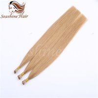 "Wholesale Cheap I Tip Extensions - Cheap I-Tip Human Hair Extensions 18""20"" 22""24""Brazilian Remy Hair Straight I-tip Hair Virgin Hair Extensions"