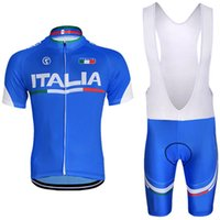Wholesale Cycling Bibs Italia - Free Shipping 2017 ITALIA cycling jersey bibs shorts 100% polyeter quick dry breathable cycling wear team bike jersey shorts suit