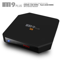 Wholesale Smart Led Tvs Wholesale - fully loaded smart tv box M9 Plus TV Box Amlogic S905 2GB+16GB Dual WiFi Bluetooth4.0 LED display Streaming Media Player