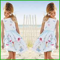 Wholesale Girls Leopard Print One Piece - one-piece summer girls dress floral animal print solid white chidlren flower sundress lovely casual party formal girls dress one-piece