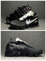 Wholesale Best Low Cut Casual Shoes - withbox+Original Quality 2018 Fashion VaporMax OFF White x Running Shoes For Men Women Retro Best Sports Casual Outdoor Weave Sneakers 36-46