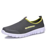 Wholesale 38 d - 2017 Summer Shoes Light Comfortable Men Casual Shoes Mesh Breathable Loafers Footwear Plus Size 38-46