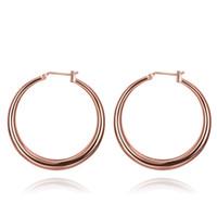 ingrosso grandi gioielli sexy-Orecchini grandi orecchini a cerchio in oro 18 carati placcato oro rosa per le donne Gioielli di moda sexy per i gioielli di alta qualità Prezzo di fabbrica