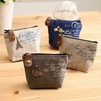 Wholesale New fashion retro nostalgia purse Korean cute key cases women s canvas bag coin keychain keys wallet Purse change pocket makeup Sorte B0174