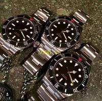 Wholesale Mechanical Automatic Tungsten Men Watch - Luxury WATCHES New Sapphire 40mm DATE Bezel Black Stainless steel Bracelet Automatic Sport Mens Watch Men's Watches 007 Man Wristwatch
