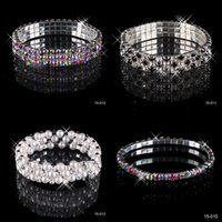 Wholesale Cheap Quality Gifts - Hot Sale 3 Row Rhinestone Stretch Bangle Wedding Bracelet Bridal Jewelry 15006 Cheap High Quality Free Shipping Top Selling