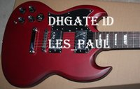 Custom Shop SG Einzigartige E-Gitarren-Matte Wine Red, Block Griffbrett Inlay Chrom Hardware Double Cutaway
