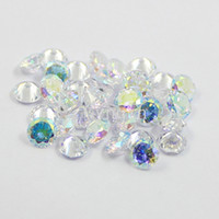 Wholesale Lab Created Loose Gems - 500pcs lot free shipping 4mm-8.5mm AAA cubic zirconia AB coated color round loose gem stones