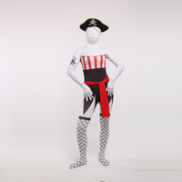 feito sob encomenda zentai venda por atacado-Custom Made Preto Sexy Feminino Pirata Trajes Cosplay Halloween Lycra Spandex Zentai Bodysuit