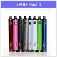 Wholesale Evod Vv - EVOD Twist II 2 VV battery - 1300 1600mAh Variable Voltage 3.3v-4.8v battery VS tesla sidewinder 2 battery
