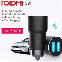 Wholesale Bluetooth Car Control - Xiaomi ROIDMI 3S Bluetooth 5V 3.4A Car Charger Music Player FM Smart APP for iPhone and Android Smart Control MP3 Player