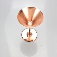 Wholesale free t bars - Stainless Steel Wine Glasses Rose Gold Cocktail Cup For Bar High Grade Goblet Creative Gift Martini Glass 26yf C RW