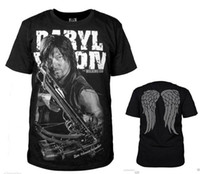 Vendita all'ingrosso di estate-HOT The Walking Dead Daryl Dixon T-shirt shirt Cosplay parti superiori di modo casuale S-4XL