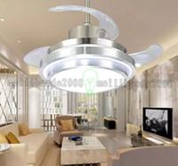 Wholesale Quiet Fans - Quiet Ceiling Fans 110-240V Invisible Blades Ceiling Fans Modern Fan Lamp Living Room European Ceiling Light 48   42   36   32 Inches MYY