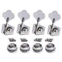 Wholesale Tuning Machine Heads For Guitars - 4R Bass Guitar Machine Heads Tuners Open Geared Chrome Tuning pegs keys For Fender Bass-free Shipping