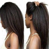 Wholesale Yaki Full Lace Wigs Sale - Quality yaki Straight Wig For Black Women Brazilian Human Hair Wigs Coarse Yaki Hair Wig Sale