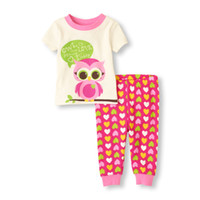 Wholesale owl shirts girls - Owl Heart Baby Girls Clothes Suits Cute Children's Outfits Fashion Girls Dress Brand New Kids T-Shirts Trousers