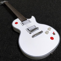 Wholesale Electric Guitar Hollow Body White - Custom Arcade Button Killswitch Buckethead Signature Alpine White Electric Guitar Ebony Fingerboard No Inlays 24 Jumbo Frets Top Selling