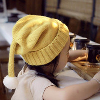 Wholesale New Days Turtleneck - The New Autumn and Winter Baby Hair Ball Knit Hat Korean Men and Women Christmas Child Warm Turtleneck Wool Hat