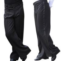 Wholesale Mens Professional Pants - Wholesale Men's Dance Pants Professional Mens Latin Dance Trousers Performance Stage Pants Modern Ballroom Dance Costumes UA0070