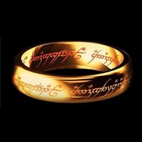 Wholesale Lord Ring Free Shipping - Midi Ring Tungsten One Ring of Power Titanium steel The Lord of The Rings Finger Ring Fashion Jewelry DHL free shipping