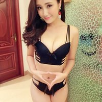 Wholesale Sexy Junior Bras - Japanese sexy hollow out lingerie set push up sweet smooth bra and panty sets women underwear bra set bow junior tops intimates