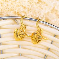 Wholesale Cubic Zirconia Sale - 2016 Brand New Women's Golden Earrings 24k Gold-plated Spherical Fashion Jewelry Hot Sales Classic Accessories Lowest Price free Shipping5.5