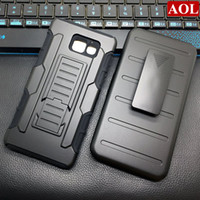 Wholesale E5 Phones - For Samsung galaxy A3 A5 A7 E5 A510 A710 2016 Silicone 3 in 1 Future Armor Case Stand Belt Clip Cover Phone Cases