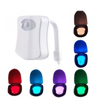 Wholesale Light Sensors For Sale - Hot sale LED Motion Sensor Auto Toilet Night Light 8 colors change Battery-Operated Colorful Bowl Bathroom Lamp soft light for Toilet