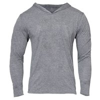 assassins hoodie großhandel-Großhandels-Mens Gym Hoodie Langarm Bodybuilding Hoody Männer Sport Anzüge Tank Top Muscle Shirts Baumwolle Assassins Creed Gold Gym
