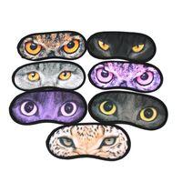 Wholesale Sleep Mask Wholesaler - Sexy 3D Print Animal Eyeshade Covers Travel Sleeping Eye Mask Sleep Aid Cover Blindfold Eye Mask ZA0212