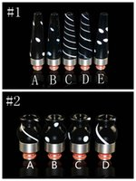 Wholesale Glass Vase Black - Pyrex Glass Stainless Steel Black 510 SS Drip Tips Vase Bowling Cannon Shape Mouthpiece Long Short Drip Tip for RDA Atomizer Vape DHL