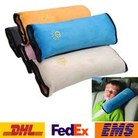 cojín del cuello del bebé al por mayor-DHL Baby Pillow Cojín Kids Auto Pillow cinturón de seguridad del coche proteger hombro Pad ajustar asiento del vehículo 5 colores Cinturón cinturón almohada cuello WX-S01