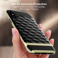 Para Iphone X 8 7 6S Plus Samsung Note 8 S8 Plus S7 3D Diamond Design PC TPU Hbrid Cell Phone Cases Covers