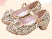 kinder rosa high heels großhandel-Neue Kinder Prinzessin Pearl Friesen Sandalen Kinder Blume Hochzeit Schuhe High Heels Kleid Schuhe Party Schuhe Für Mädchen Rosa G946