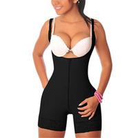 bustier großhandel-Großhandel Frauen Sexy Lift Butt Volle Nahtlose Unterbrust Schultergurt Schwarz Einfarbig Shapewear Bustier für Damen