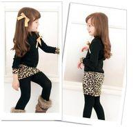 Wholesale Ribbon Zebra - Spring Autuam Children's clothing wholesale Girls long-sleeved dress Hot style leopard grain bag hip children's skirt