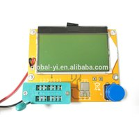 Wholesale Lcd Led Tester - Wholesale-LCD Display yellow-green Backlight ESR Meter LCR led Transistor Tester 128*64 Diode Triode Capacitance MOS PNP NPN
