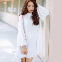 Wholesale Dress Sexy Korean Style - harajuku dresses 2017 korean style party kawaii new autumn dress women sexy plus size women clothing winter white sweet dress