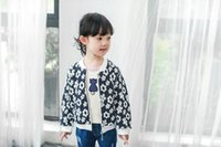Wholesale Cheap Hot Girl Clothing - Kids clothing 2016 sweat flowers girls jackets casual coat All-matched tops autumn spring hot sale clothing cheap price