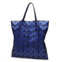 Wholesale Navy White Shopping Bags - Wholesale-Top Design Fashion Bao Bao Famous Designer Issey Handbag Matt surface Pu Shoulder Bag Quilted Foldable Shopping Bag For Lady