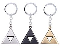 Wholesale Vintage Bottle Holder - Anime Game The Legend of Zelda Matal Vintage Keychain The Triangle Mark Keychain Pendant 3 Colors