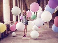 decoração do dia das crianças venda por atacado-Hot !!! Colorido Big Ballons Dia Dos Namorados Romântico Ballons Wedding Party Bar Decoração Fotografia Fotografia Crianças Presente de Alta Qualidade